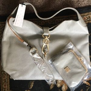 Dooney & Bourne Grey Leather Bag & Coin Purse